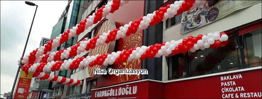 işyeri açılış balon süslemesi